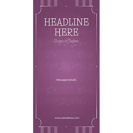 Custom Vertical Display Banner, Musical Notes