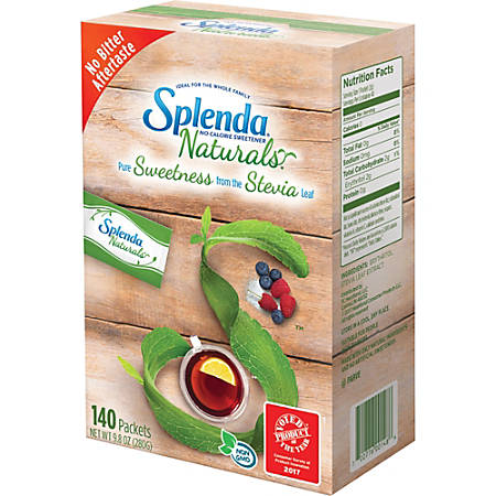 Splenda® Naturals Stevia Sweetener Packets, Box Of 140