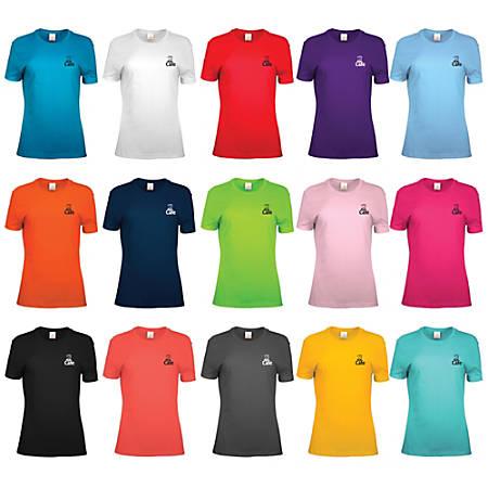 100% Cotton Women's T-Shirt, Assorted Colors