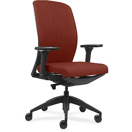 Lorell® Fabric High-Back Chair, Orange/Black