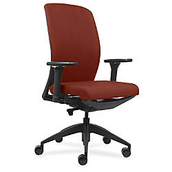 Lorell Fabric High Back Chair OrangeBlack