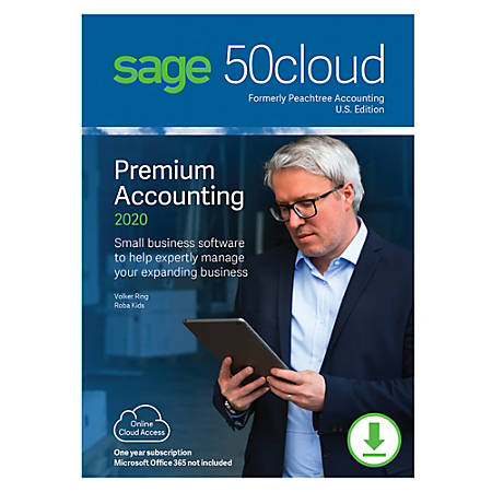 Sage 50cloud Premium Accounting 2020 U.S. 3-User One Year Subscription