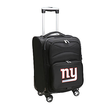 """Denco ABS Upright Rolling Carry-On Luggage, 21""""H x 13""""W x 9""""D, New York Giants, Black"""