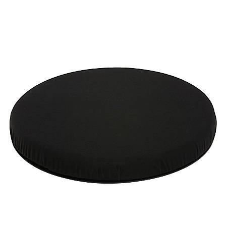 HealthSmart® Deluxe Swivel Seat Cushion, Velour, Black