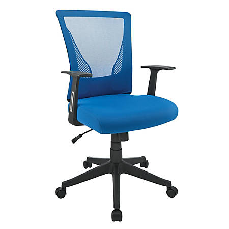 Brenton Studio® Radley Mesh/Fabric Mid-Back Task Chair, Blue