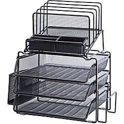 Lorell Divided 4 tier Desktop Organizer