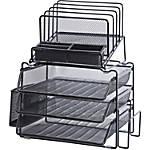 Lorell Divided 4-tier Desktop Organizer - Black