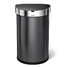 simplehuman Semiround Steel Sensor Trash Can