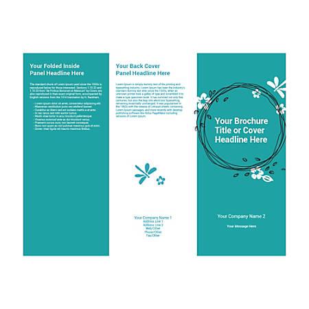 Customizable Trifold Brochure, Teal Garland