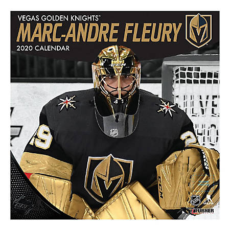 """Turner Licensing Monthly Wall Calendar, 12"""" x 12"""", Marc-Andre Fleury, 2020"""