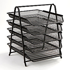 Mind Reader Steel Mesh Paper Tray