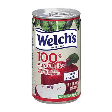 Welch's Apple Juice, 5.5 Oz, Case Of 48