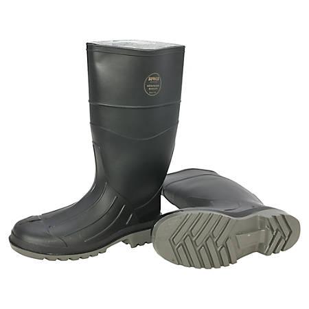 Servus Men's Iron Duke PVC Steel-Toe Safety Boots, Size 11, Black