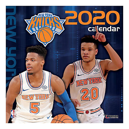 "Turner Licensing Monthly Wall Calendar, 12"" x 12"", New York Knicks, 2020"