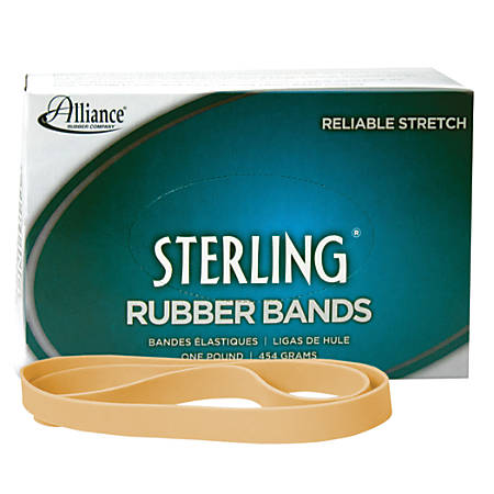 "Alliance® Advantage Rubber Bands, Size 107, 7"" x 5/8"", Natural, Box Of 40"
