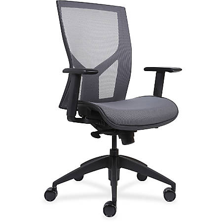 """Lorell High-Back Chair with Mesh Back & Seat - Black - 26.3"""" Width x 24.8"""" Depth x 42.8"""" Height"""