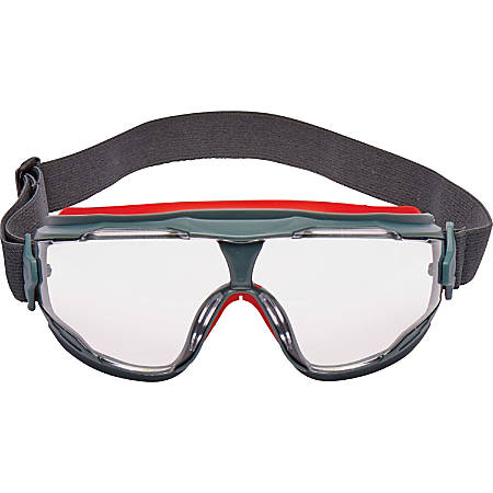 3M GoggleGear 500 Series Scotchgard Anti-Fog Lens - Recommended for: Oil & Gas - Eye, Splash, Ultraviolet Protection - Polycarbonate Lens, Elastic Strap - Clear, Gray - 1 Each