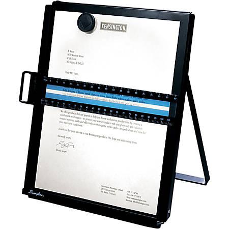 Kensington® Metal Letter-Size Copyholder, Letter, Black