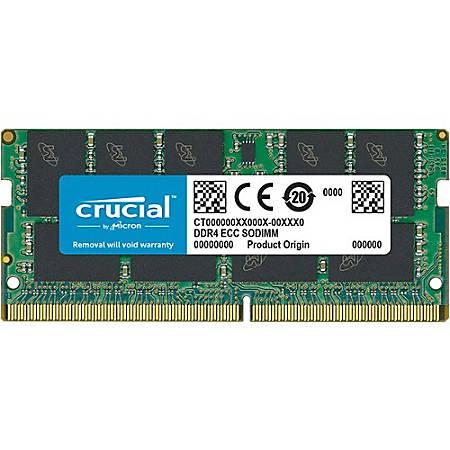 Crucial 16GB DDR4 SDRAM Memory Module - 16 GB - DDR4-2666/PC4-21300 DDR4 SDRAM - CL19 - 1.20 V - ECC - Unbuffered - 260-pin - SoDIMM