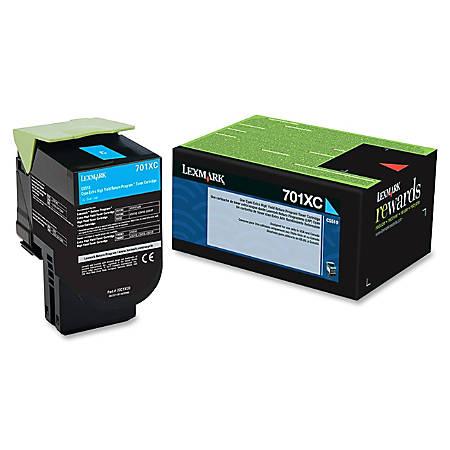 Lexmark™ 70C1XC0 High-Yield Cyan Toner Cartridge