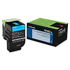 Lexmark 70C1XC0 High Yield Cyan Toner