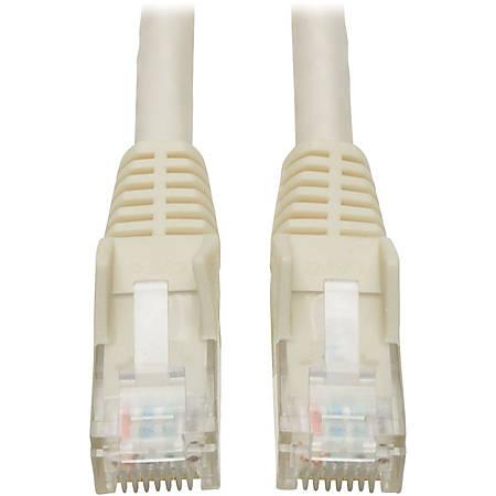 Tripp Lite 25ft Cat6 Gigabit Snagless Molded Patch Cable RJ45 M/M White 25' - Category 6 - 25ft - 1 x RJ-45 Male - 1 x RJ-45 Male - White