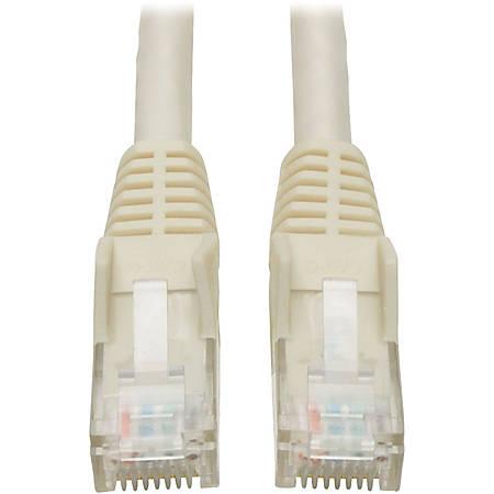 Tripp Lite 25ft Cat6 Gigabit Snagless Molded Patch Cable RJ45 M/M White 25'