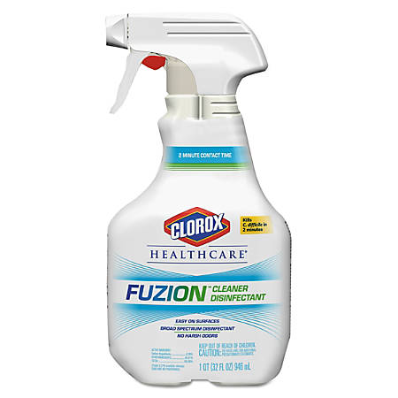 Clorox® Healthcare® Fuzion™ Cleaner Disinfectant, Unscented, 32 Oz, Pack Of 9