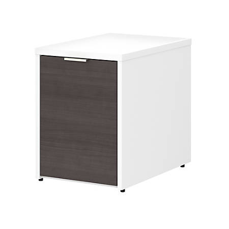 Bush Business Furniture Jamestown Small Storage Cabinet With Door, Storm Gray/White, Premium Installation