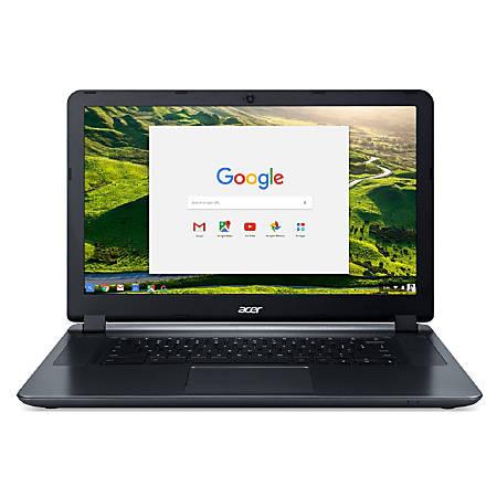 "Acer® Refurbished Chromebook, 15.6"" Screen, Intel® Celeron®, 4GB Memory, 32GB Flash Memory, Chrome OS, NX.GHJAA.008"
