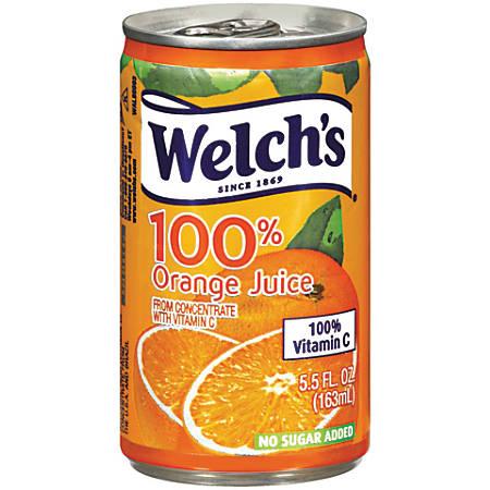 Welch's Orange Juice, 5.5 Oz, Case Of 48