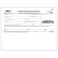 ComplyRight 1094 B Transmittal LaserInkjet Tax