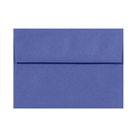 """LUX Invitation Envelopes With Peel & Press Closure, A7, 5 1/4"""" x 7 1/4"""", Boardwalk Blue, Pack Of 500"""