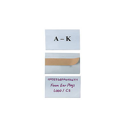 """Open-Edge™ Plastic Label Holders, 3"""" x 5"""", Clear, Pack Of 50"""