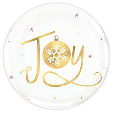 Amscan Christmas Joy Coupe Plates 7