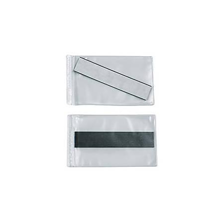 "SuperScan® Vinyl Envelopes, 3"" x 5"", Clear, Case of 50"