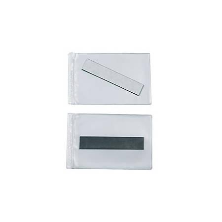 "SuperScan® Vinyl Envelopes, 4"" x 6"", Clear, Pack Of 50"