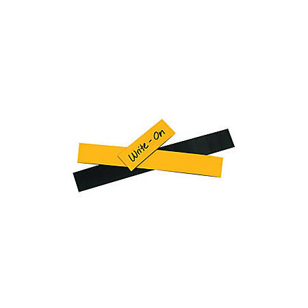 """Office Depot® Brand Magnetic Warehouse Label Roll, LH121, 1"""" x 50', Yellow"""