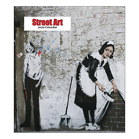 "Retrospect Street Art Monthly Desk Calendar, 6-1/4"" x 5-1/2"", January To December 2020, YCD 007-20"