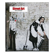 Retrospect Street Art Monthly Desk Calendar
