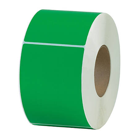 "Office Depot® Brand Colored Rectangle Thermal Transfer Labels, THL130DN, 4"" x 6"", Dark Green, 1,000 Labels Per Roll, Pack Of 4 Rolls"