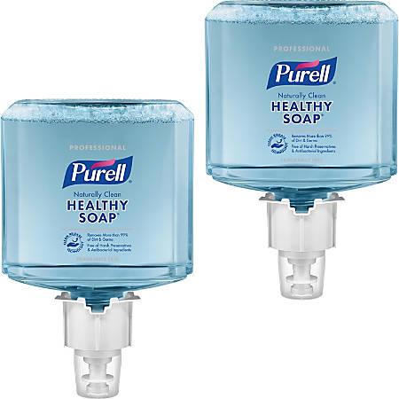 PURELL® ES6 Naturally Clean Fragrance Free Foam Soap - 40.6 fl oz (1200 mL) - Dirt Remover, Kill Germs - Skin - Blue - Fragrance-free, Preservative-free, Paraben-free, Phthalate-free, Dye-free, Hypoallergenic, Bio-based - 2 / Carton