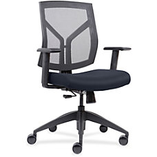 Lorell MeshFabric Mid Back Chair Dark