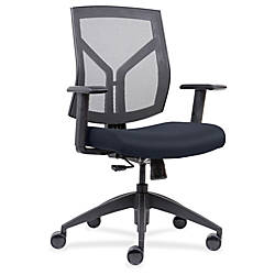Lorell Mid Back Chairs wth Mesh
