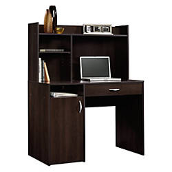 Sauder Beginnings Desk With Hutch Cinnamon