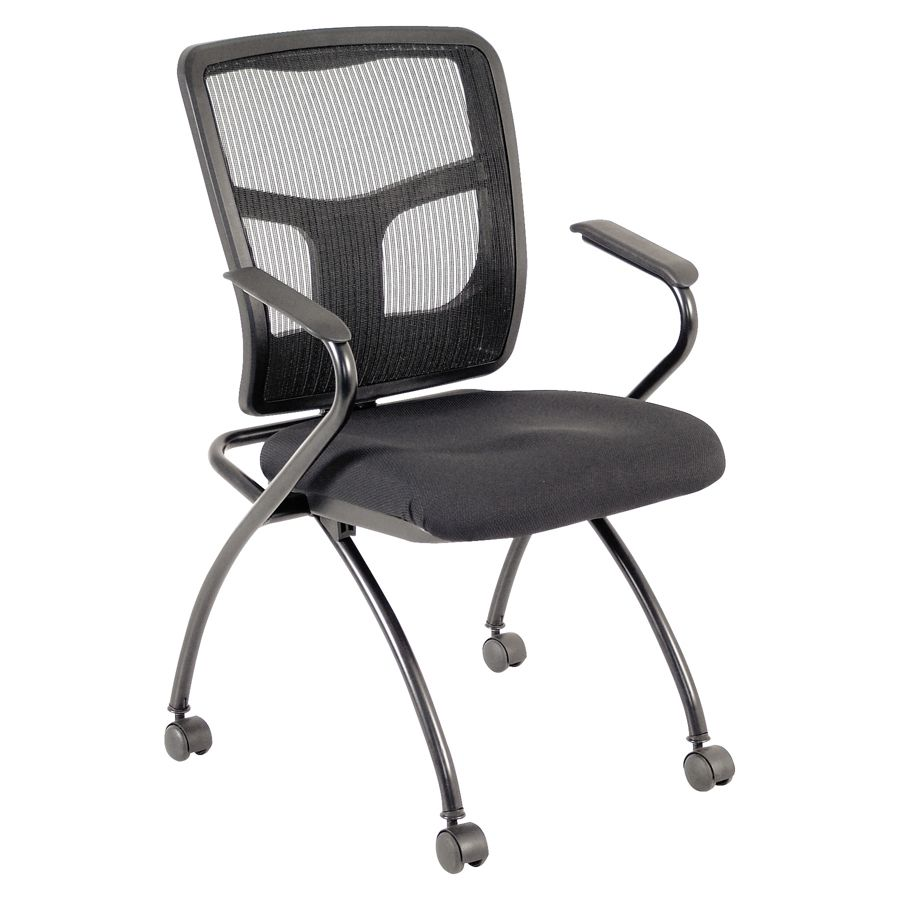 Use + and - keys to zoom in and out arrow keys move the zoomed portion of the image  sc 1 st  Office Depot & Lorell Ergonomic MeshFabric Nesting Chair Black Set Of 2 - Office Depot
