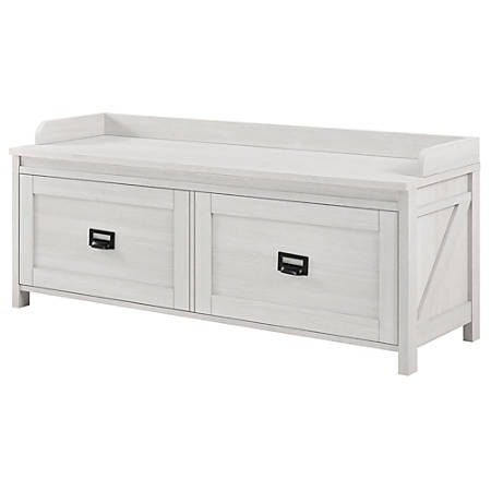 Ameriwood™ Home Farmington Entryway Storage Bench, 2 Drawers, Ivory Pine