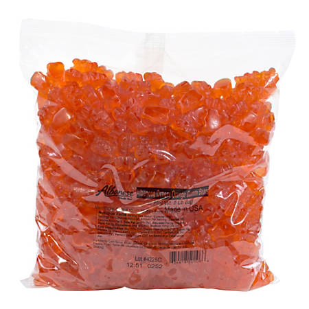 Albanese Confectionery Gummies, Ornery Orange Gummy Bears, 5-Lb Bag