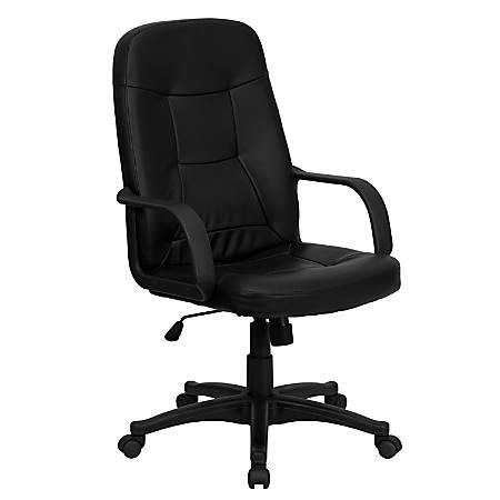 Flash Furniture Glove Vinyl High-Back Swivel Chair, Black