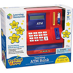 Pretend Play Teaching ATM Bank